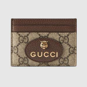 AUTHENTIC GUCCI Vintage GG Supreme Card Case